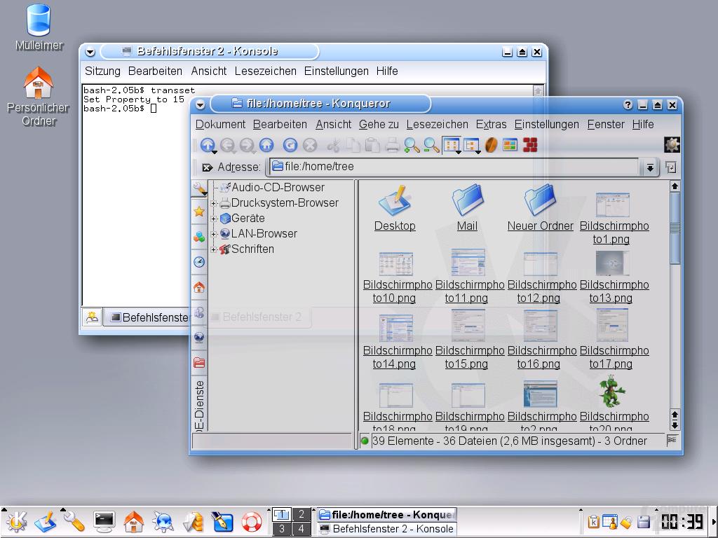 FreeDesktop.org X Server (Transparenz)