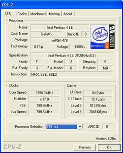 Pentium 4 Extreme Edition 3,40 GHz