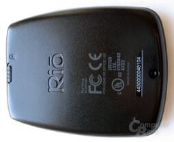 RIO MP3-Player - Unterseite