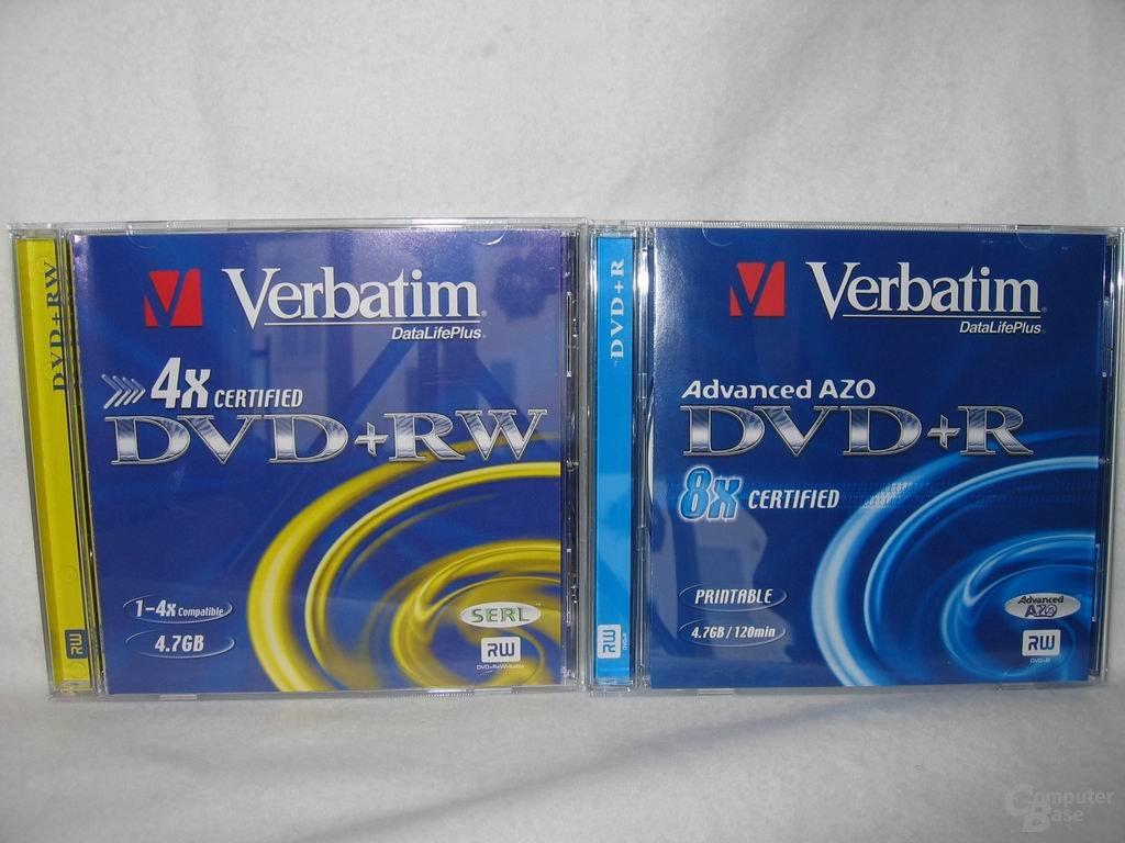 DVD+R und +RW Medien