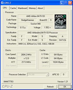 FX-53 mit 2,6 GHz