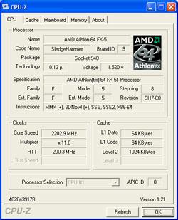 Athlon 64 FX-51 CPU-Z