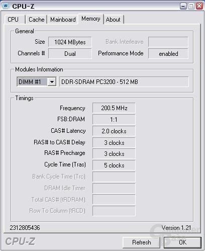 Module bei 200 MHz