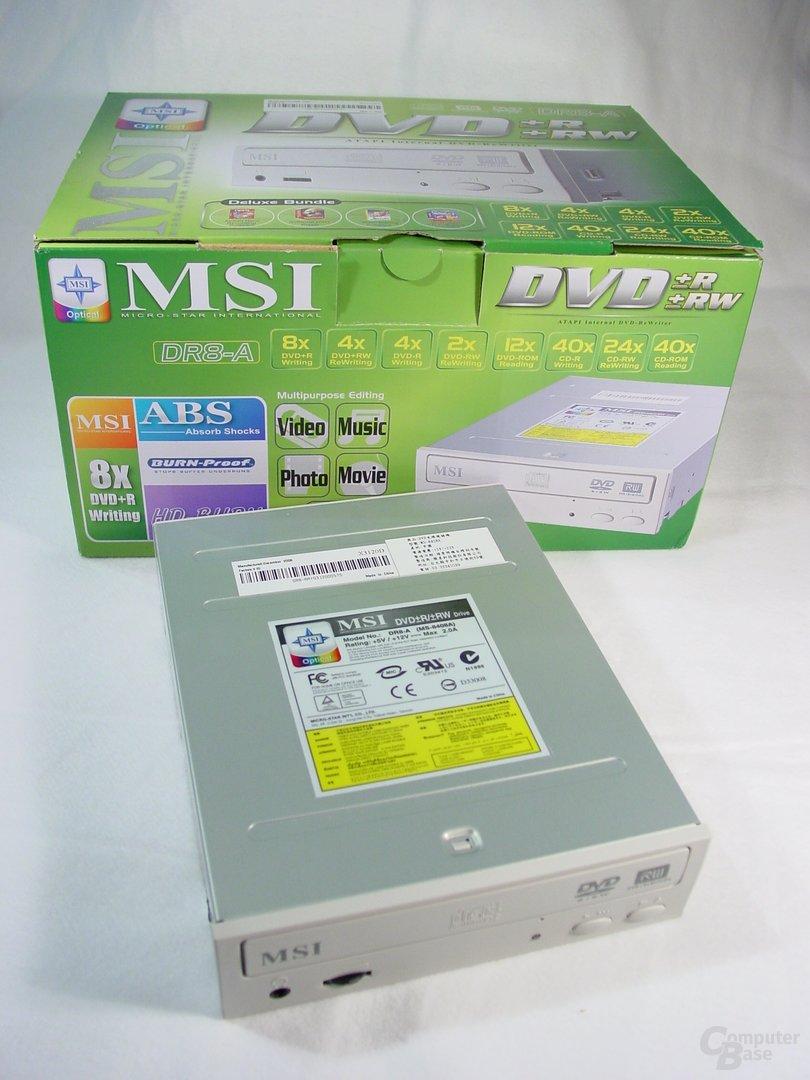 MSI DR8-A Laufwerk+Verpackung