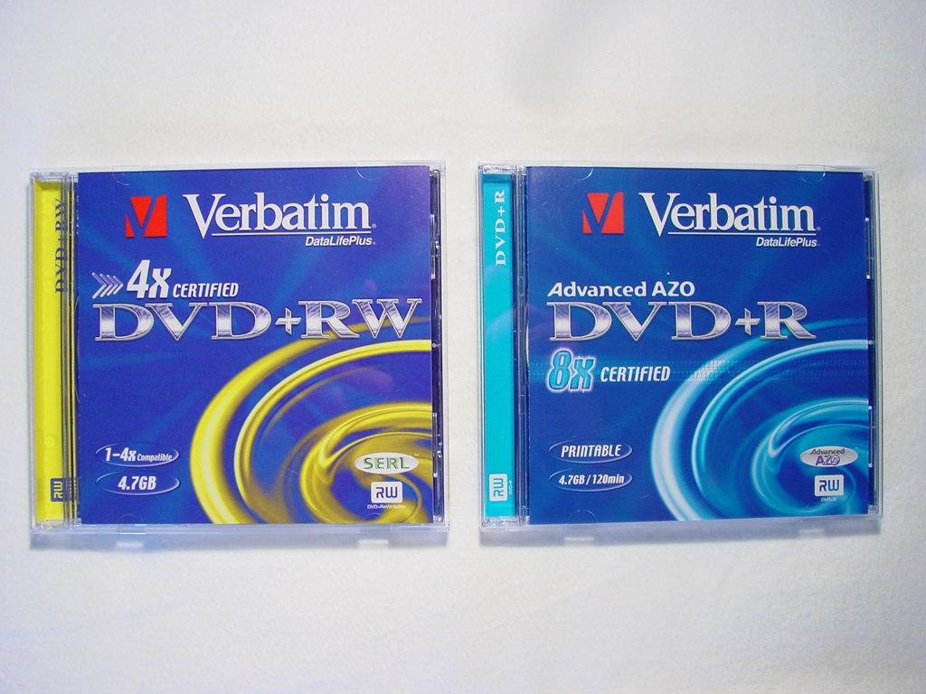 Verbatim DVD+R und DVD+RW