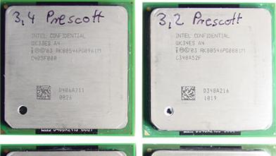 "Intel Pentium 4 3,40E GHz ""Prescott"" im Test: 90 nm Mangelware"