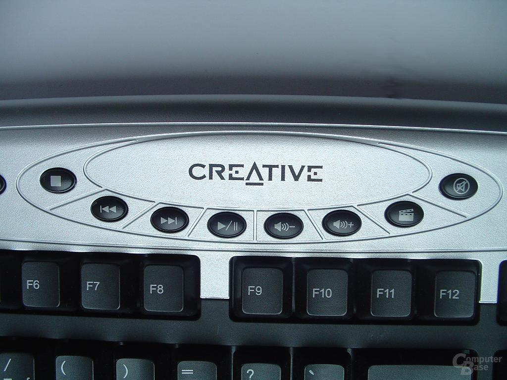 Creativs Multimediatasten mittig