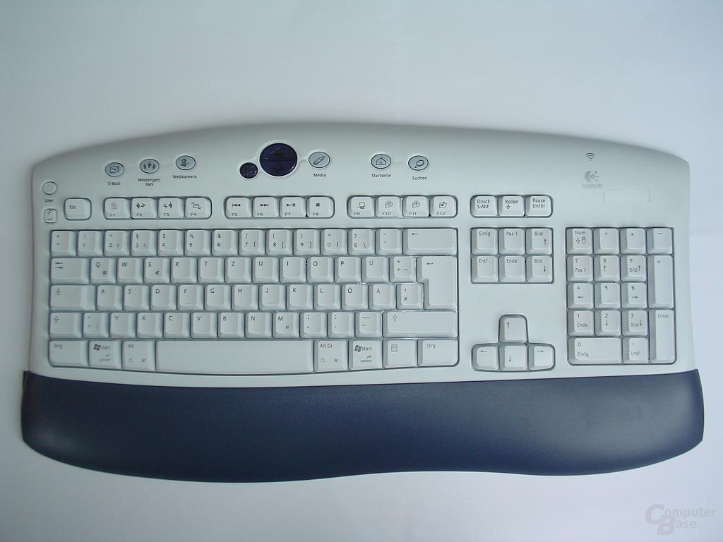 Logitech Tastatur von oben
