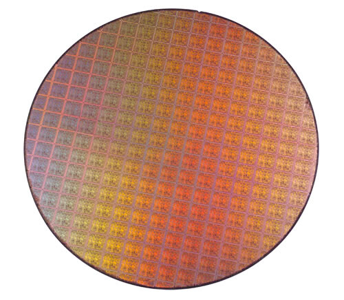 300 mm Wafer mit NV40 Chips