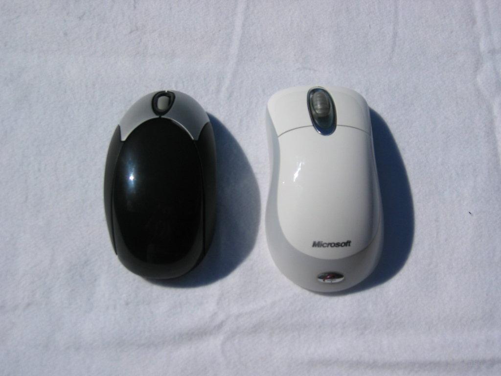 Größenvergleich nebst MS Wireless Optical