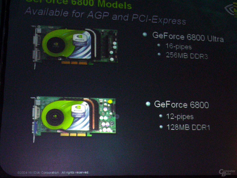 GeForce 6800 - mit 16 oder 12 Pipes II