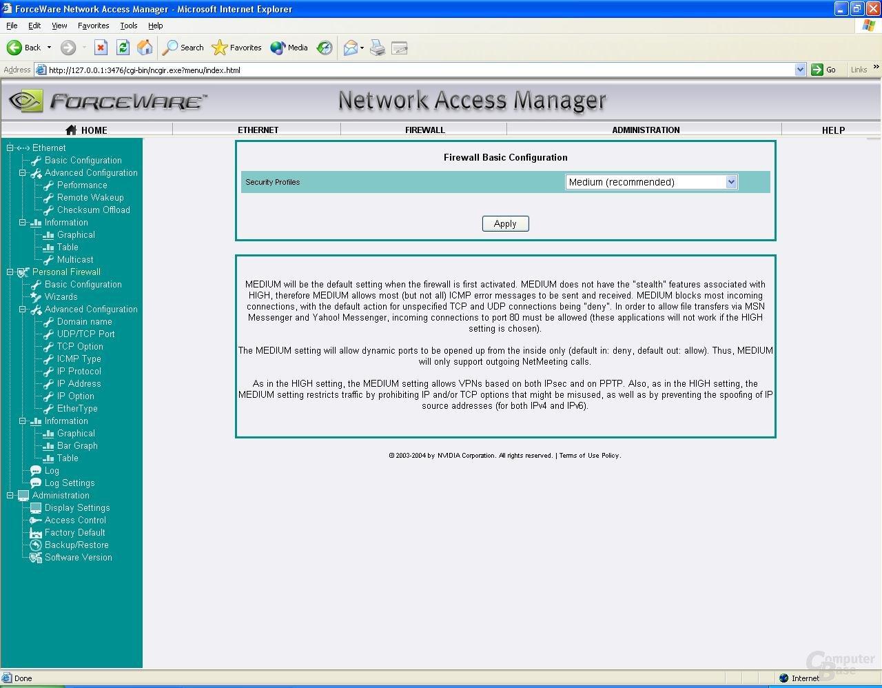 nForce 3 250 Gb Firewall