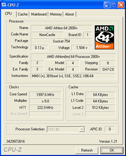 Athlon 64 2800+ Overclocking bis 2 GHz