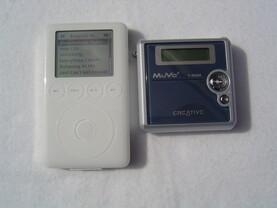 Grössenvergleich iPod vs MuVo²