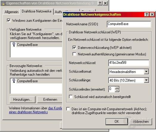 WEP Client Konfiguration
