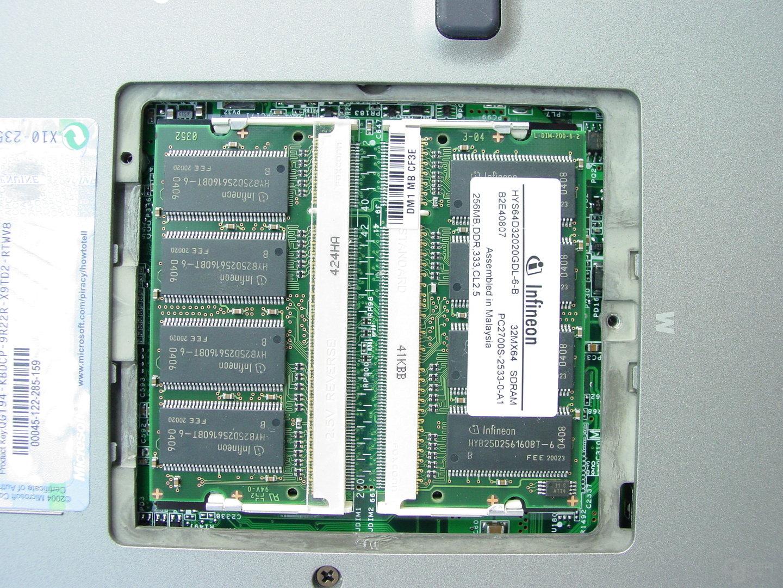 Dell Latitude D505 - Arbeitsspeicher