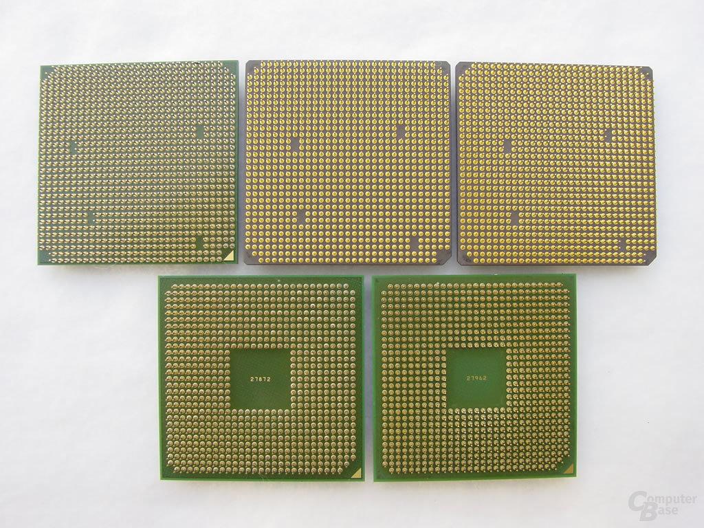 AMDs Athlon 64 im Überblick - Oben Links der Prozessor für den neuen Sockel 939