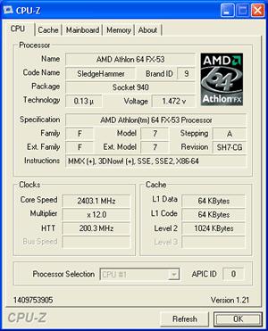 Athlon 64 FX-53 (S939) wird noch als Sockel 940 CPU erkannt
