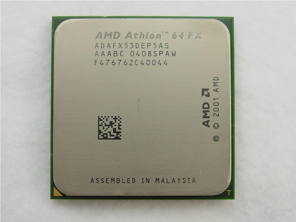 Der neue Athlon 64 FX-53 von oben