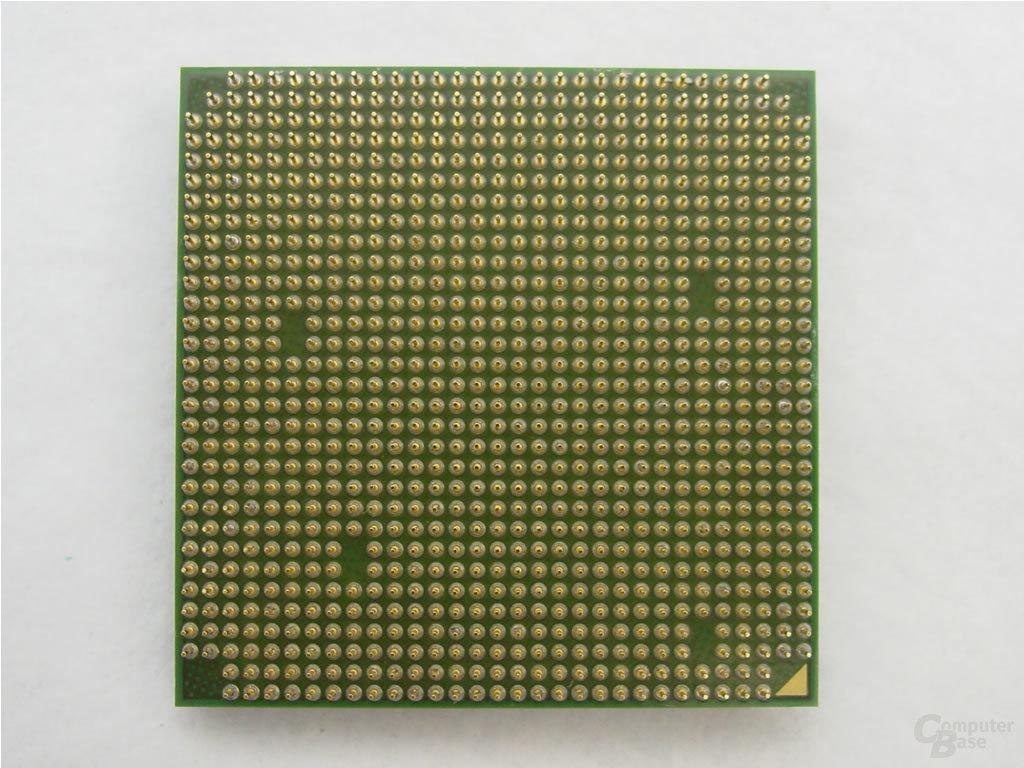 Der neue Athlon 64 FX-64 für den Sockel 939 von unten