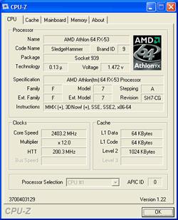 Athlon 64 FX-53 Sockel 939