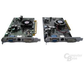 ATi Radeon X600 XT und ATi (Sapphire) Radeon 9600 XT