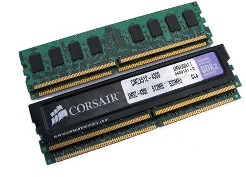 DDR2-533 Module von Corsair und Micron