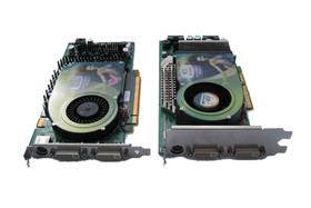 GeForce 6800 Ultra (AGP) rechts - links GeForce 6800 GT (PEG)