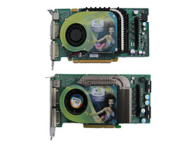 GeForce 6800 Ultra (AGP) unten - oben GeForce 6800 GT (PEG)