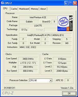 Intel Pentium 4 Extreme Edition 3,4 GHz Sockel 775
