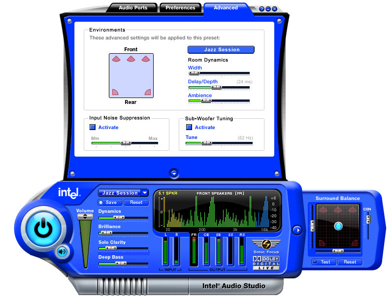 Intel Audio Studio_advanced_view
