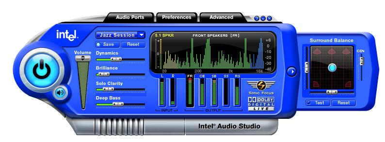 Intel Audio Studio_balance_view