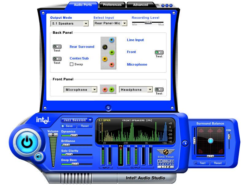 Intel Audio Studio_ports_view