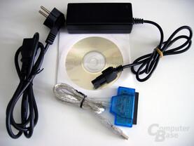 IDE-zu-USB-Adapter Lieferumfang