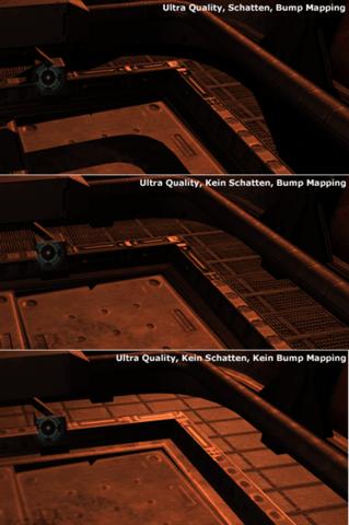 Qualitätsvergleich - Schatten und Bump Mapping