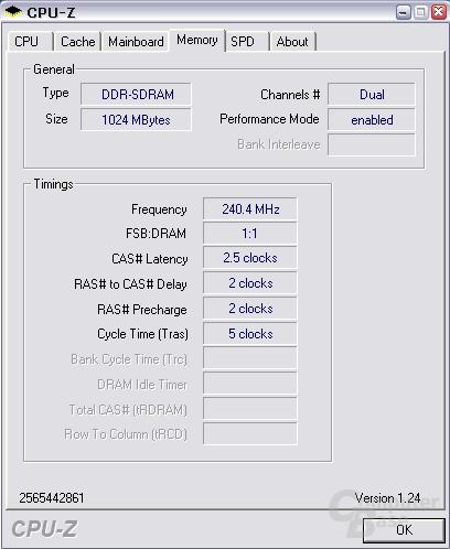 Crucial-Module bei DDR480