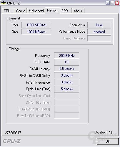 Crucial-Module bei DDR500