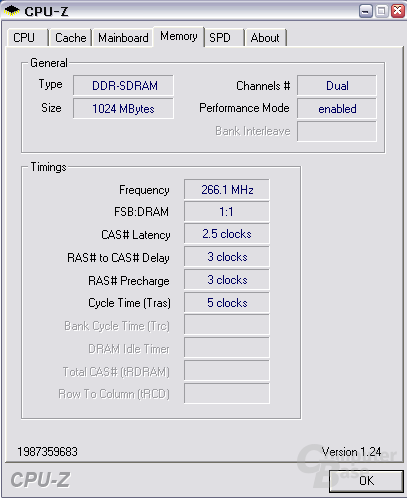 Timings bei DDR533