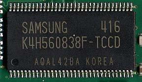 Samsung-Speicherchip - Auf acht von zehn Modulen zu finden
