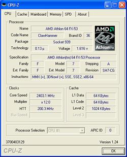Eigenschaften vom Athlon 64 FX-53
