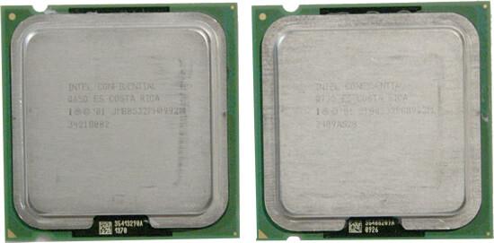 Alte und neue Extreme Edition von oben: links FSB1066, rechts FSB800