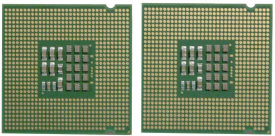 Alte und neue Extreme Edition von unten: links FSB1066, rechts FSB800