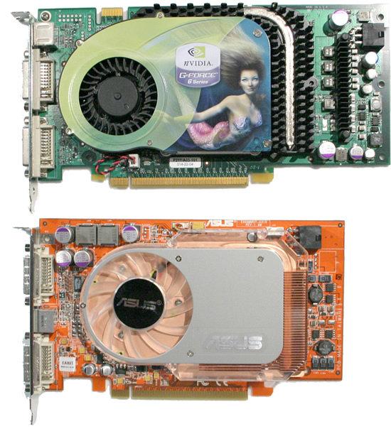 Schnelle PCI Express-Grafikkarte von nVidia (6800 GT) und ATi (X800 XT)