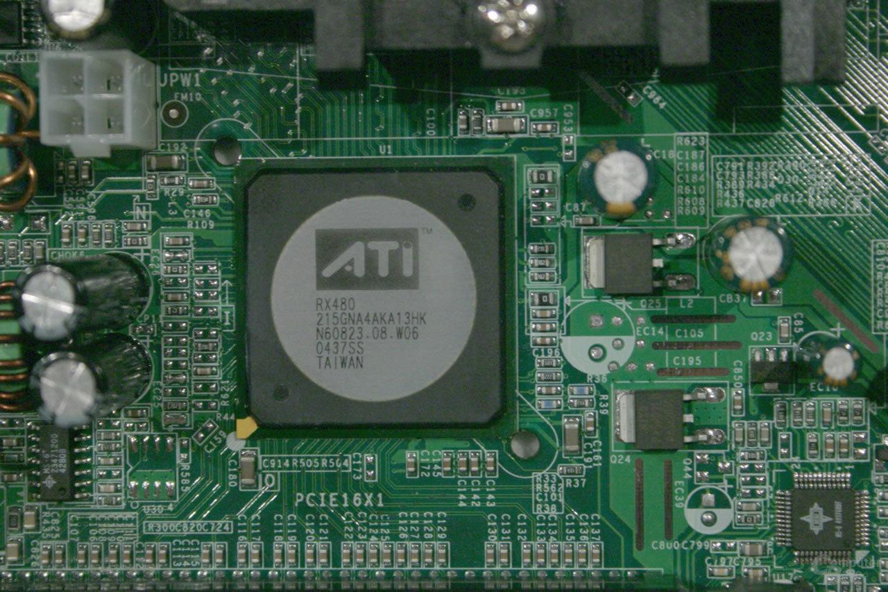 Die Northbridge - ATis RX480 ohne integrierte Grafik-Einheit