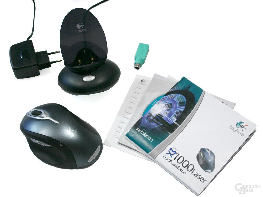 Lieferumfang Logitech MX1000 Laser