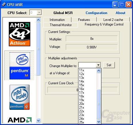 CPU MSR 0.88 Optionen