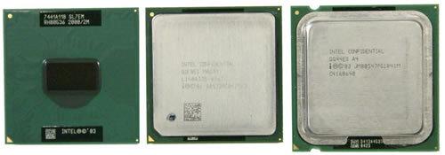 Pentium M, Pentium 4 Sockel 478 und Pentium 4 Sockel 775