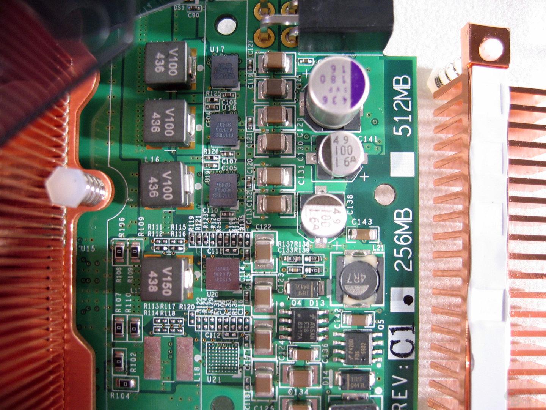 PX6800GT Stromversorgung, Kühler abgenommen