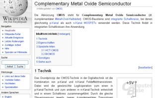 """Inhaltsvergleich (""""CMOS""""): Wikipedia"""