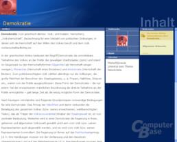 """Inhaltsvergleich (""""Demokratie""""): Encarta"""